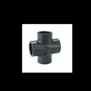 plastic pipe fitting pvc pipe cross fitting sch80