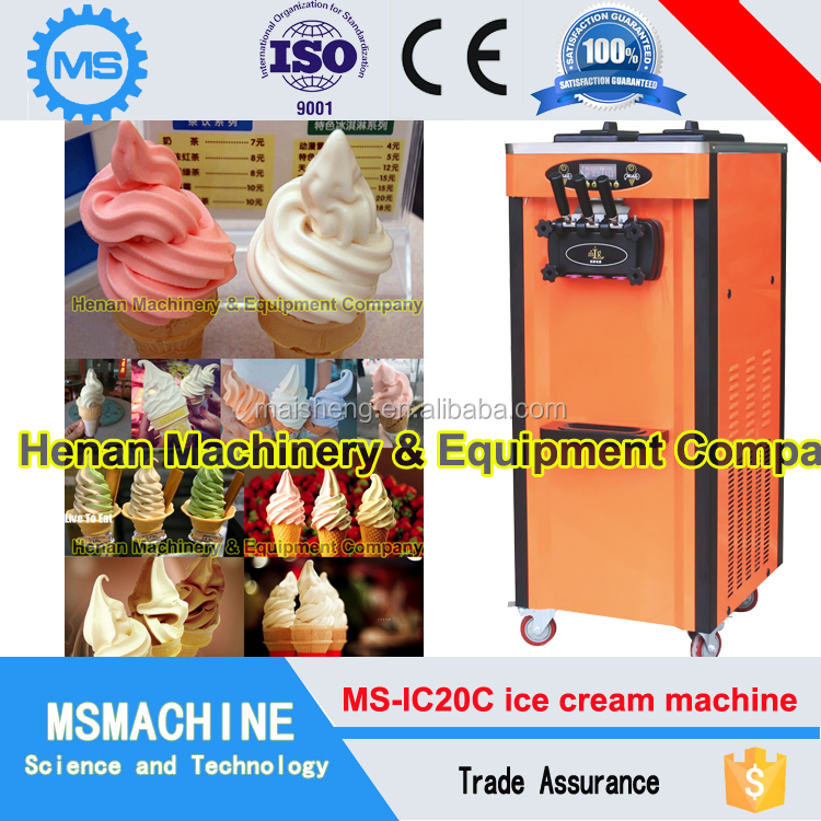Best price cold stone marble slab top fry ice cream machine