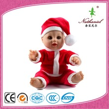"Christmas doll christmas gift 12"" wholesale happy baby doll toys made in china"
