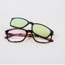 Custom made Italy Design CE Sunglasses Yellow Clip on Eyeglasses