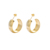 E-686 Xuping Jewelry 24K gold simple elegant arc shaped stud earrings for ladies