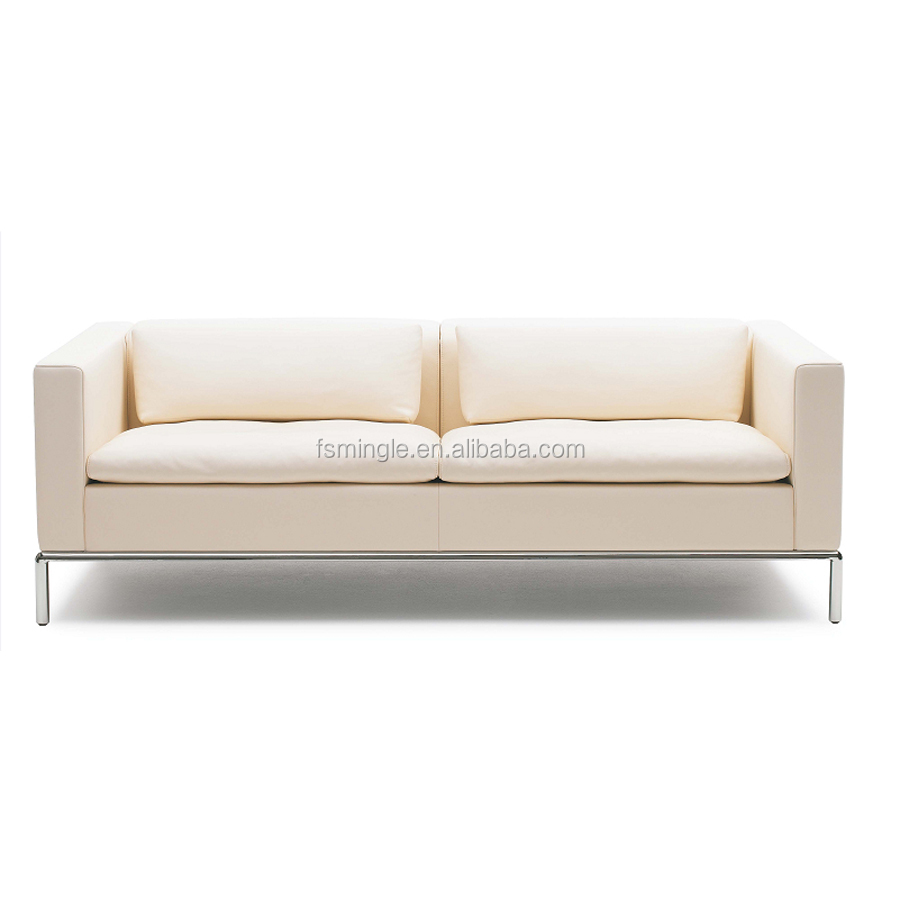 modern living room stainless steel leg sofa export design