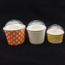 disposable custom printed ice cream paper cup