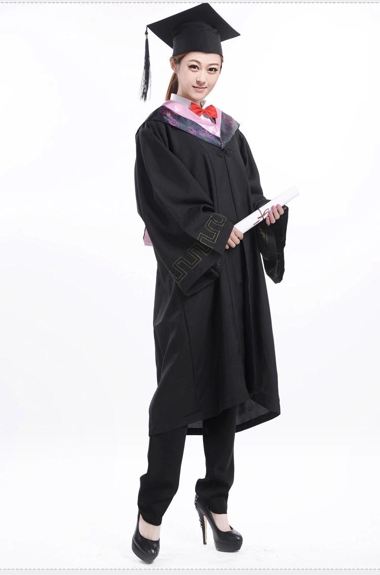 Factory Direct Sale Fashion Adult Bachelor College Graduation Gown ...