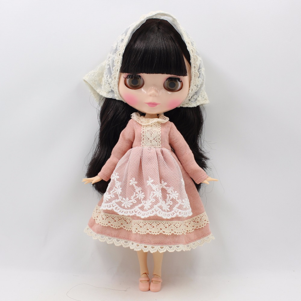 Neo Blythe Doll Lace Dress with Scarf 4