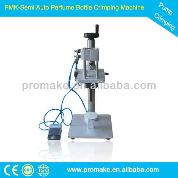 China PMK glass bottle cap closing machinery