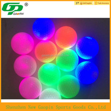 2016 bulk cheap custom design LED/glow golf ball with several colors to flash ,practice golf ball
