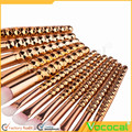 12 PCS Makeup Cosmetic Brush Kit Contour Eyebrow Powder Foundation Blush Nasal Lip Brush Set Rose Gold