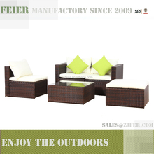 FEIER cheap steel frame rattan sofa furniture