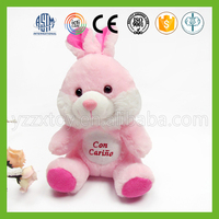 Custom hot sale plush pink bunny soft toy rabbit for children toys