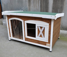 Outdoor wooden dog kennels houses with PVC Door Strip wholesale unique