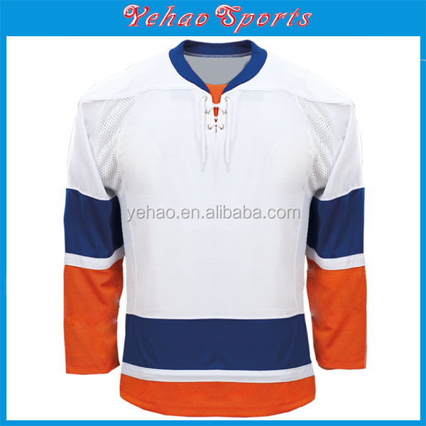 2016 Best quality custom christmas ice hockey jersey
