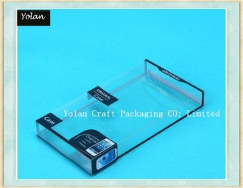 2015 new design hot stamping foil clear PVC PET box phone case packaging