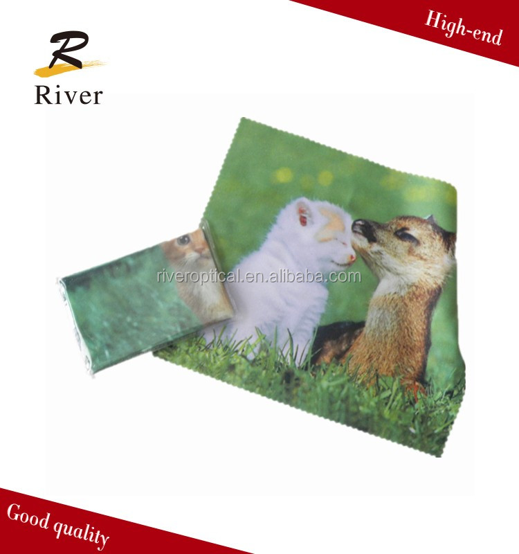 Hot sale logo printed microfiber glasses cleaning cloth
