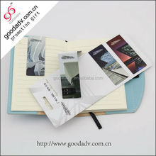 Promotional advertising cheap magnetic foldable bookmarks with custom logo