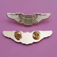 die casting metal special pilot gold wing flying badges