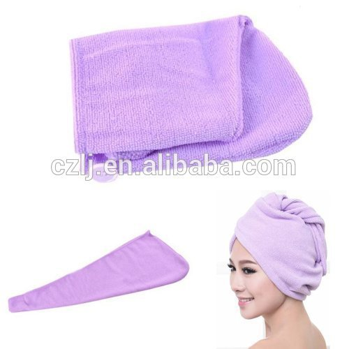 China Supplier Microfiber Hair Drying Turban Towel / China Wholesale Microfiber Shower Cap with Cheap Price
