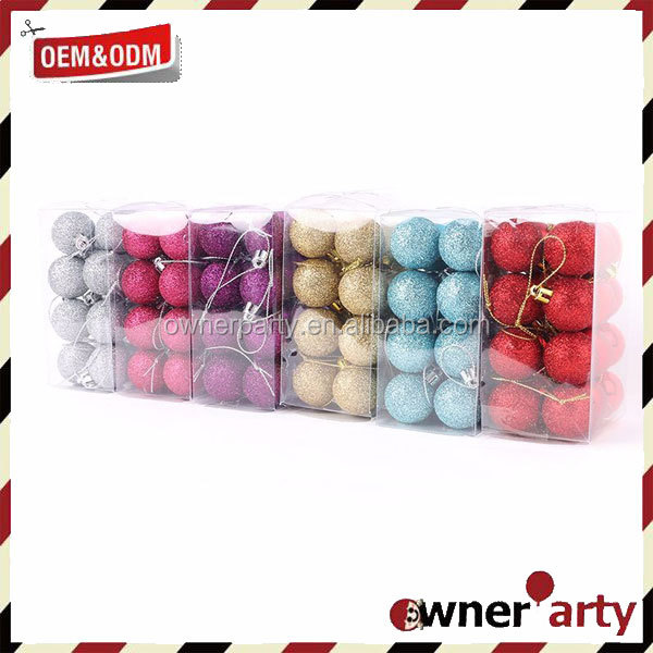 2017 Hot Sale Factory Price Custom Christmas Ornament Balls In Bulk