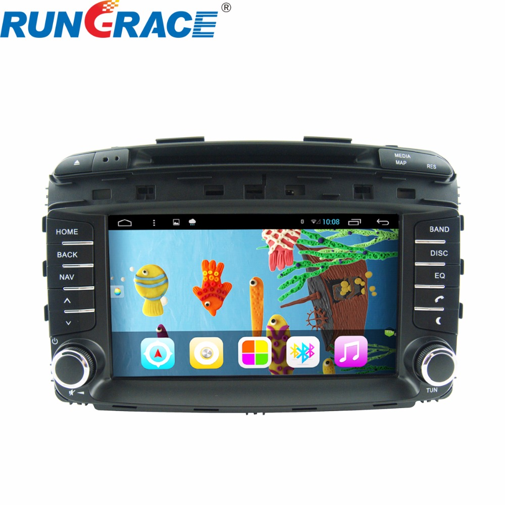 Rungrace hot sell for sorento car dvd android gps navigation with radio gps Wifi buetooth