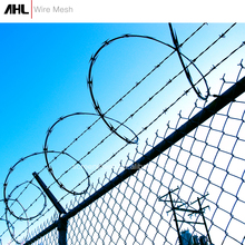 Construction Airport Anti-Climb 358 Security Fence Stainless Steel Cyclone Wire Security Fence