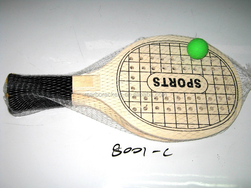 plywood paddle beach racket,indoor/outdoor ball game play wood beach tennis racket