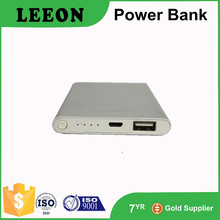 Super slim metal housing power bank 5000mah outdoor external battery for phone