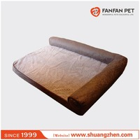 Wholesale luxury memory foam pet bed dog sofa bed