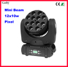 New popular 12pcs 10w RGBW 4in1 moving head beam led dj lights