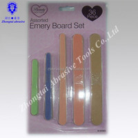 FASHION Colorful Nail File Beauty Manicure Set with many sizes