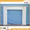 Guide rail white antique marble fireplace price