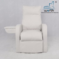 Living room white lift footrest single seat couch rest reclining sofa bed