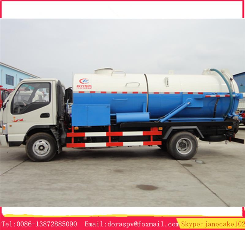 6 ton JAC 4*2 right hand drive high pressure industrial vacuum trucks