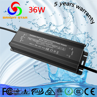Full input voltage Ip67 CE ETL listed 36w constant current 12-29v 1400ma led driver