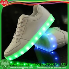 Light up LED shoes can make kids size