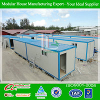 Movable 40 ft prefab container buildings hot sale fast build from china