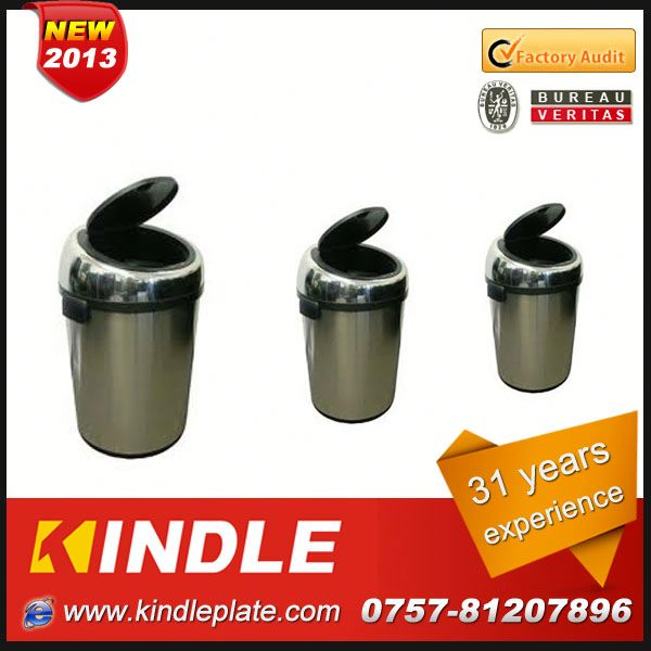 stainless trash can,mini desktop trash can with various volumes