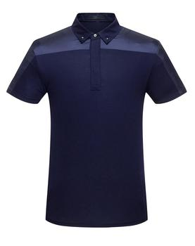 Cotton Business Leisure Splicing Micro - Elastic Short Sleeve Men's Polo Shirt