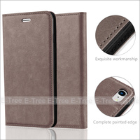 strong magent leather case flip cover for iphone 7, for iphone 7 card slot case leather