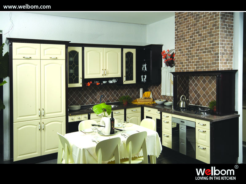 European Style Design PVC Kitchen Set