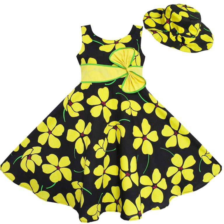 2017 Summer Baby Frocks Printed Patterns Kids Frock Designs Girls Dress