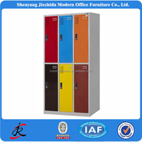 office home storage metal wardrobe steel locker cabinet 6 door iron almirah