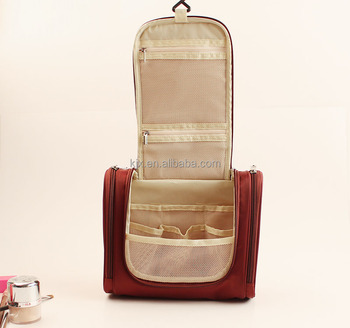 Luxury layers design plain toiletry makeup bag OEM Branded