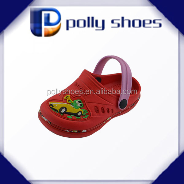 wholesale hot pretty garden red EVA clogs for kids