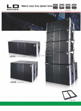 hot sale full range LD line array loudspeaker with double 10 inch driver speaker
