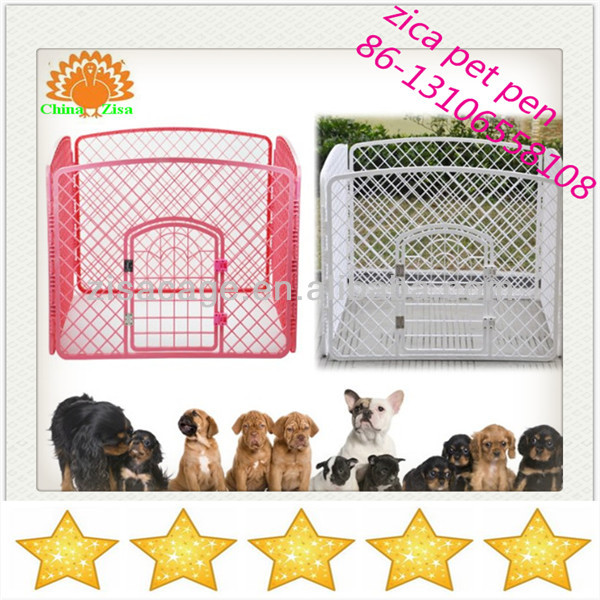 Red plastic puppy pet dog cage /pen