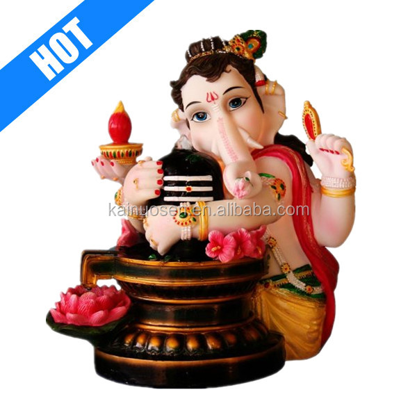 customized resin hand painted ganesh water fountain for sale