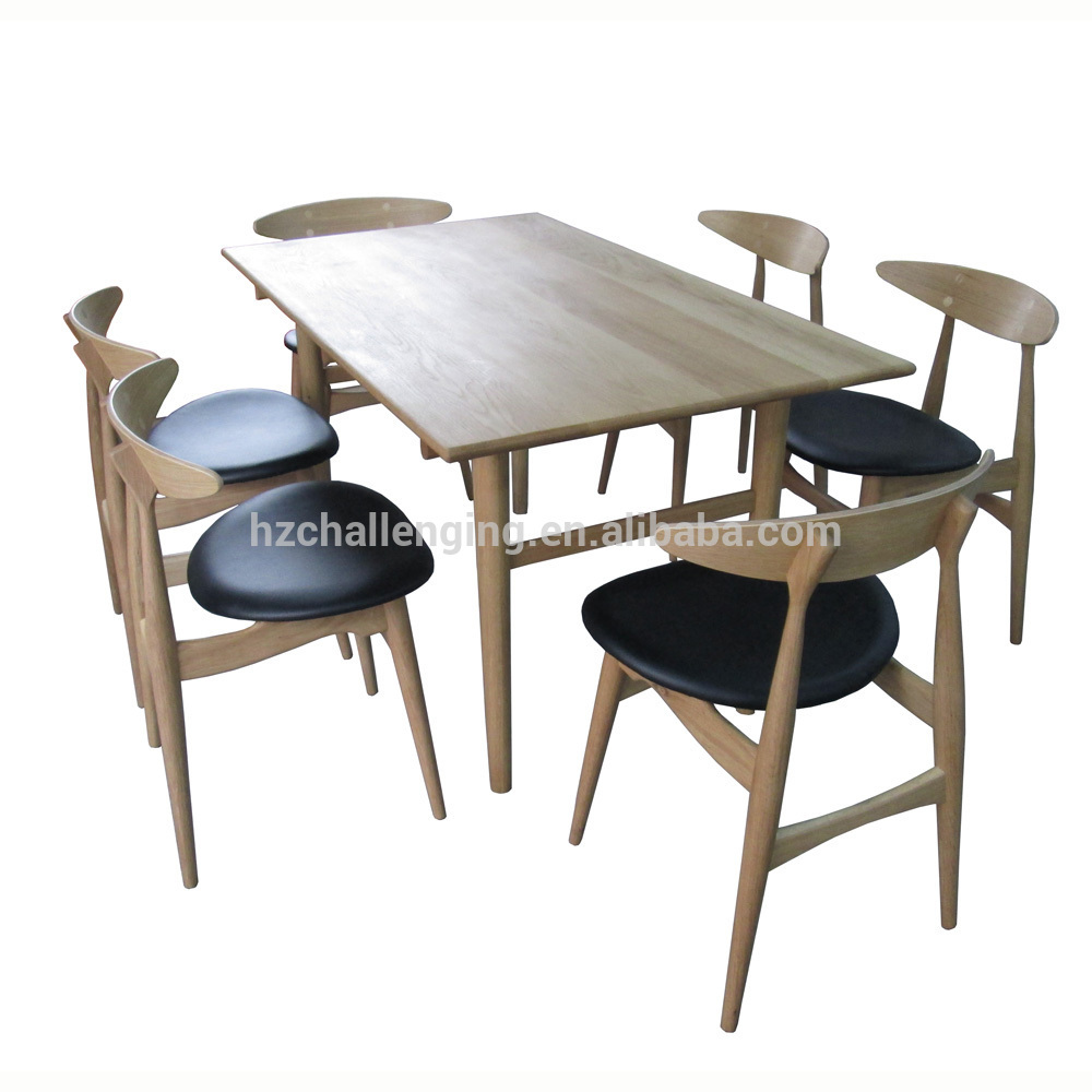 7 Piece Dining Set Fast Food Restaurant 1 Table and 6 Chair