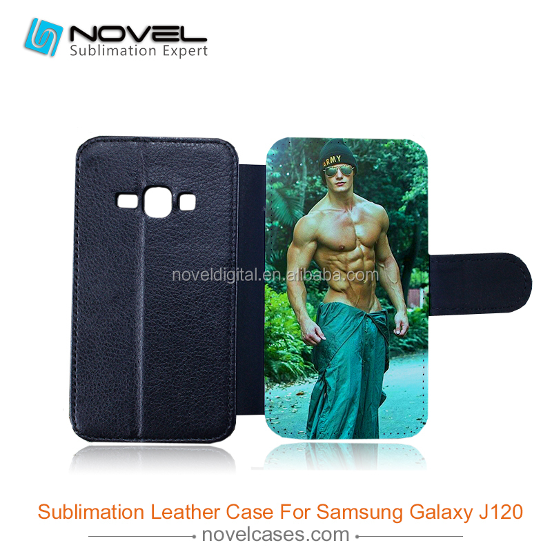 New Style Sublimation Leather Wallet for Samsung galaxy J120F, for J1 2016 model