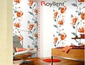 Chinese Royllent wallpaper suppliers with Flower designs wallpaper