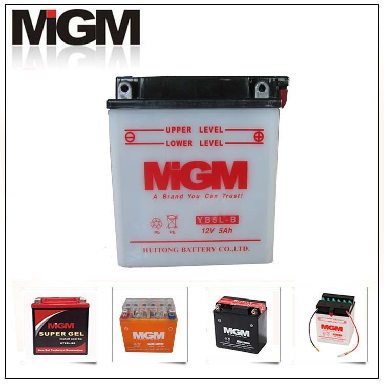 best motorcycle battery brand 6-mfq-5 yb5l-b motorcycle battery mgm brand